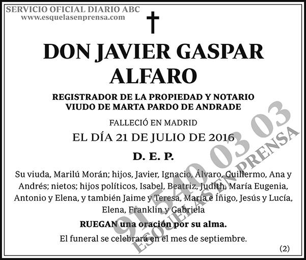 Javier Gaspar Alfaro